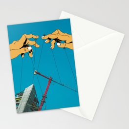 Construction With Strings Attached Stationery Cards