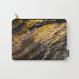 River Ripples in Yellow Gold and Brown Carry-All Pouch
