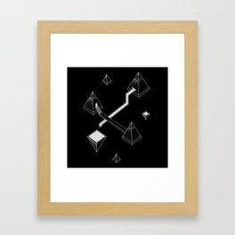 Black Space Pyramids Framed Art Print