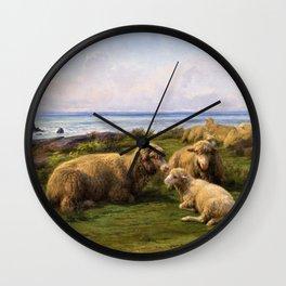 Rosa Bonheur - Sheep By The Sea - Digital Remastered Edition Wall Clock