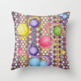 Circles Everywhere Throw Pillow