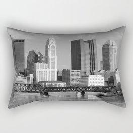 Columbus Ohio 4 - B&W Rectangular Pillow