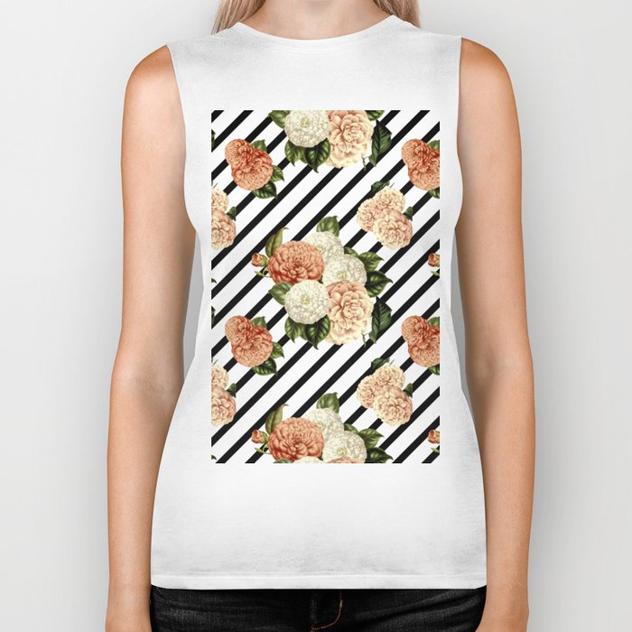 Chrysanthemum Rain Biker Tank