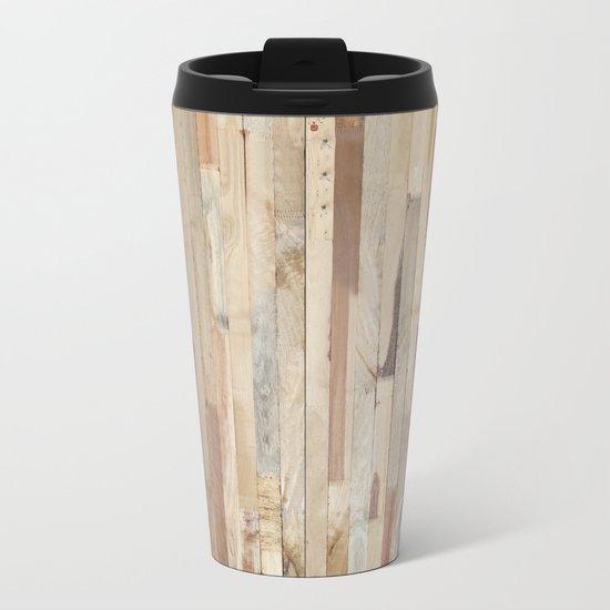 Wood Planks Metal Travel Mug