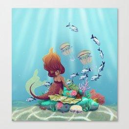 Mermaid's Sanctuary Canvas Print