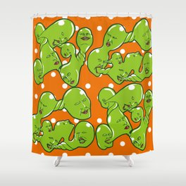 Happy Ectoplasm Shower Curtain