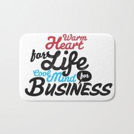 Business Typography Bath Mat