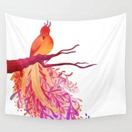 Rainbow Bird Wall Tapestry