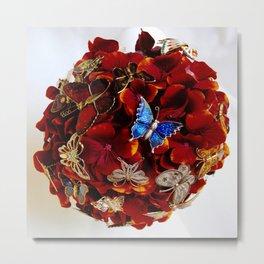 Butterfly Brooch Bouquet Metal Print