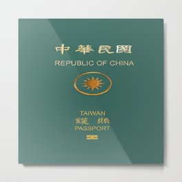 Republic of China Passport Metal Print