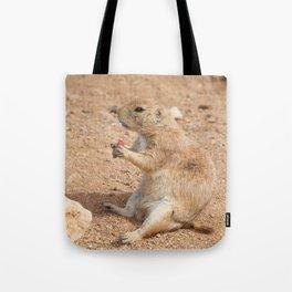 Prairie Dog Snack Time Tote Bag