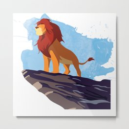 The Lion King Minimalist Metal Print