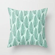 Botanical Leaf Pattern Throw Pillow