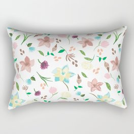 Tropical pastel themed pattern Rectangular Pillow