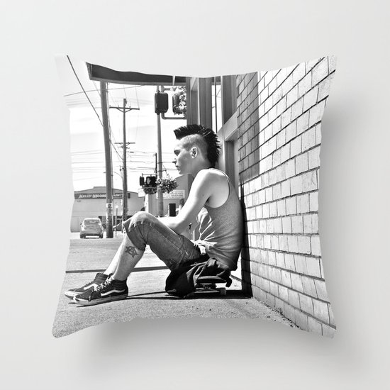 Tacoma skater Throw Pillow