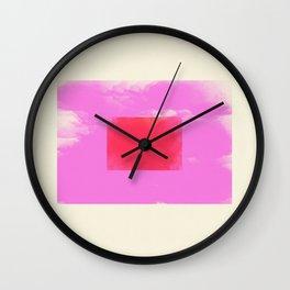 Watercolor Minimalism 1 #minimal #design #kirovair #decor #buyart #pink #design #elements Wall Clock