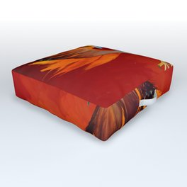 Cosmic Phoenix - Fire Burst Outdoor Floor Cushion