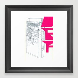 Def in Pink. Framed Art Print