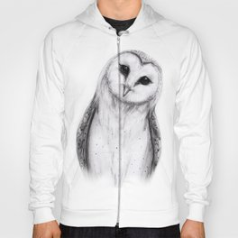 Barn Owl Sketch Hoody