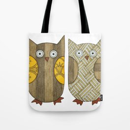 4 Gold Owls Tote Bag