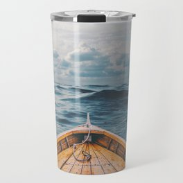 Alone at Sea-The canoe Travel Mug