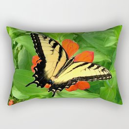 Butterfly on Zinnia 3 Rectangular Pillow