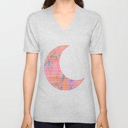 Tribal Moon Unisex V-Neck