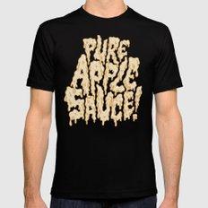 Pure Applesauce!  Mens Fitted Tee Black MEDIUM