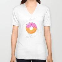 dessert V-neck T-shirts featuring Dessert by ministryofpixel