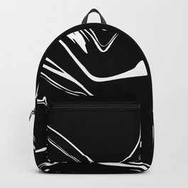 Black and White liquid Paint Splash Backpack