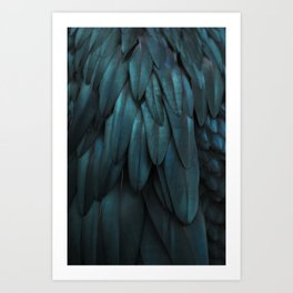 DARK FEATHERS Art Print
