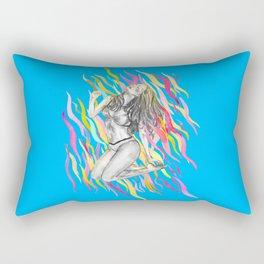 Ibiza Summer Flame Rectangular Pillow
