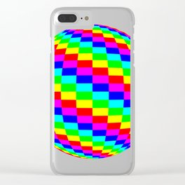 Blender Checkersphere 6 Color Clear iPhone Case