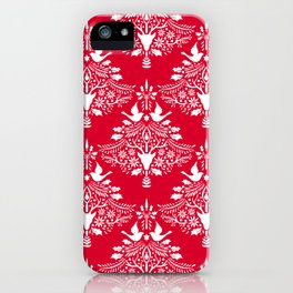 Christmas Paper Cutting Red iPhone Case