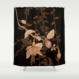 golden botanics Shower Curtain
