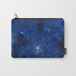 Blue Glass Bubbles Carry-All Pouch