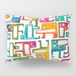Tetris Monsters Pillow Sham