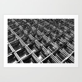 Rebar On Rebar - Industrial Abstract Art Print