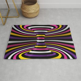 Connected channel (multicolor) Rug