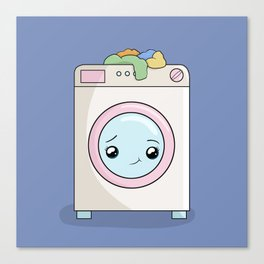 Kawaii Washing machine Canvas Print