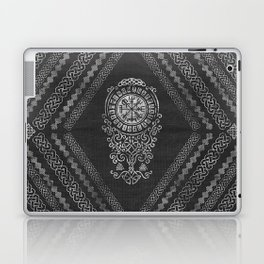 Vegvisir  with Tree of life  Yggdrasil  and Runes Laptop & iPad Skin