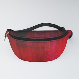 Red and Black Abstract Fanny Pack
