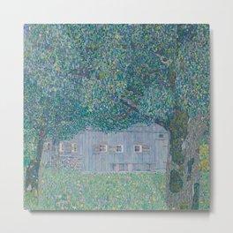 Gustav Klimt, Farmhouse in Buchberg, 1911 Metal Print