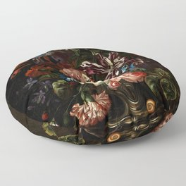 "Ernst Stuven ""Still life of flowers"" Floor Pillow"