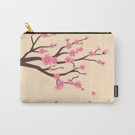 Cherry branch Carry-All Pouch