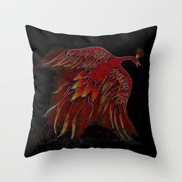Creature of Fire (The Firebird) Throw Pillow