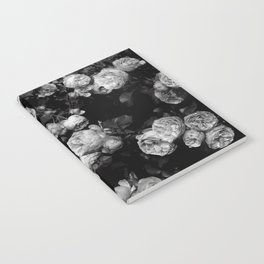 Roses are black and white Notebook