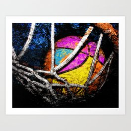 Basketball art swoosh vs 48 Art Print