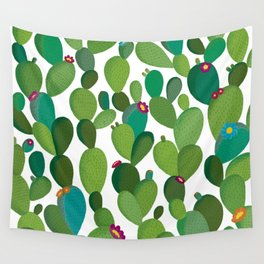 Cactus with flowers Wall Tapestry