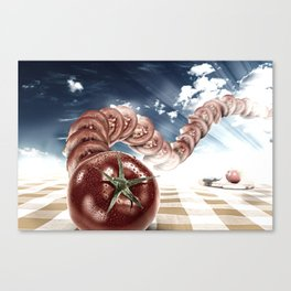 "Dancing Food ""Tomato"" Canvas Print"